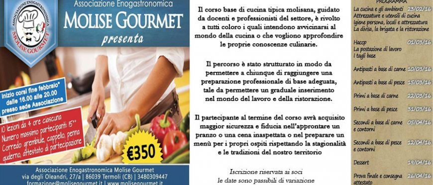 corso base di cucina | molise gourmet - Corso Base Di Cucina