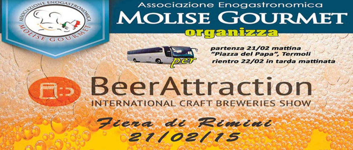 "Molise Gourmet va al ""Beer Attraction"" di Rimini Fiera"