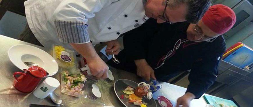 Chef dell'associazione nelle cucine del Federico di Svevia
