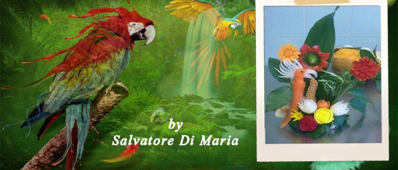 Composizione con pappagallo by Salvatore Di Maria