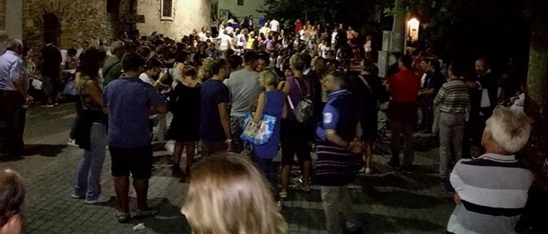 Una sera al centro storico di Fossalto