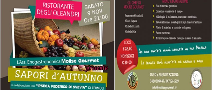 "Cena ""Sapori di Autunno"" by Molise Gourmet"